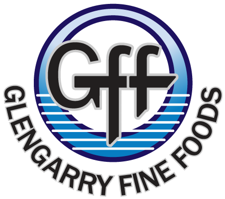 Logo design by Jeff Poissant, RGD of Evolving Media & Design Inc. for Glengarry Fine Foods, in Eastern Ontario.