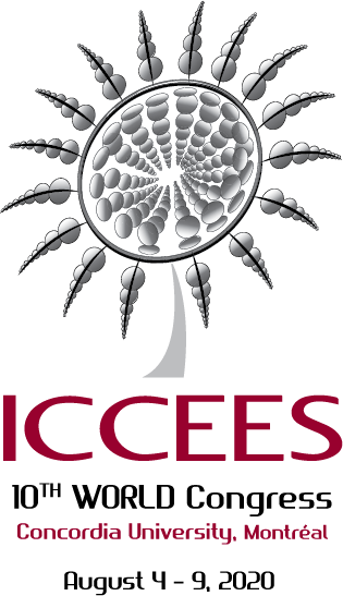 Logo design by Jeff Poissant, RGD of Evolving Media & Design Inc. for ICCEES 10th World Congress at Concordia University in 2020, in Montreal, Quebec.