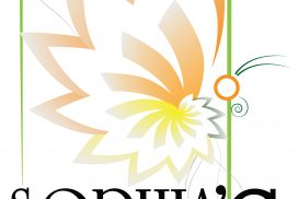 Logo design by Jeff Poissant, RGD of Evolving Media & Design Inc. for Sophia's Healthy Choices, in Eastern Ontario.