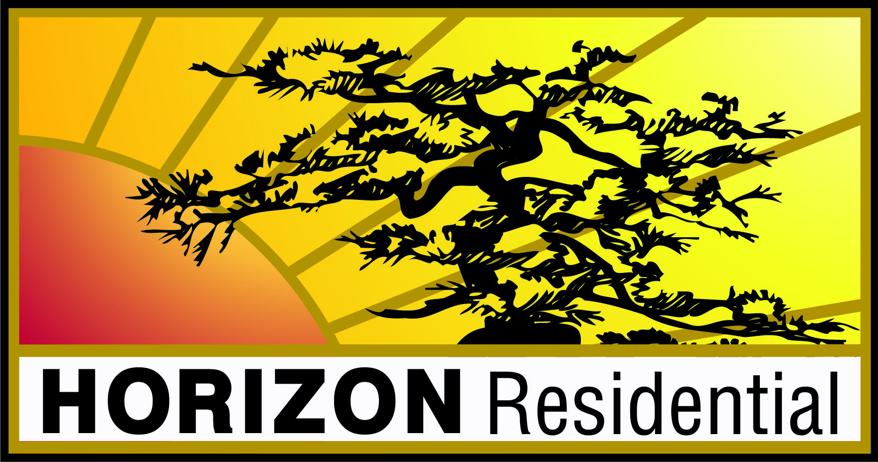 Logo design by Jeff Poissant, RGD of Evolving Media & Design Inc. for Horizon Residential, in Ottawa Ontario.