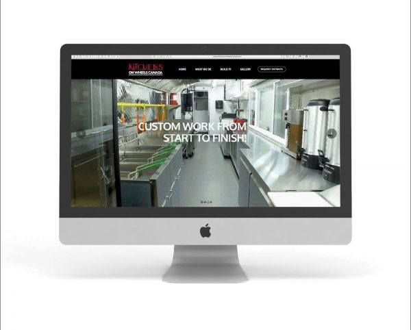 Design and development of a responsive website for Kitchens On Wheels Canada. Web hosting by EvolvingMedia.com.